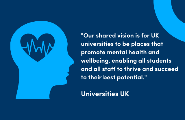 Quote from Universities UK about Mental Health